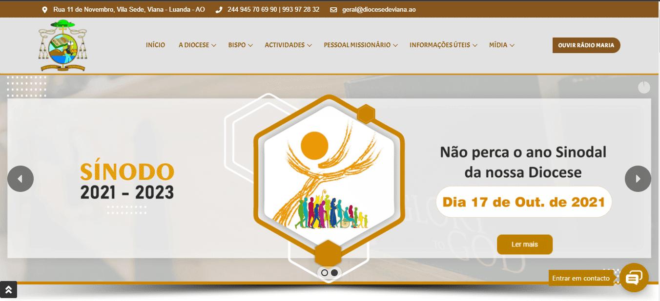 Lançamento do Site da Diocese de Viana